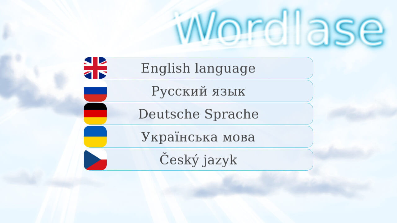 Wordlase language select