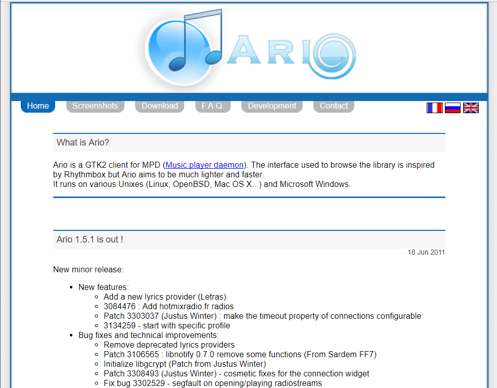 Ario-player.sf.net